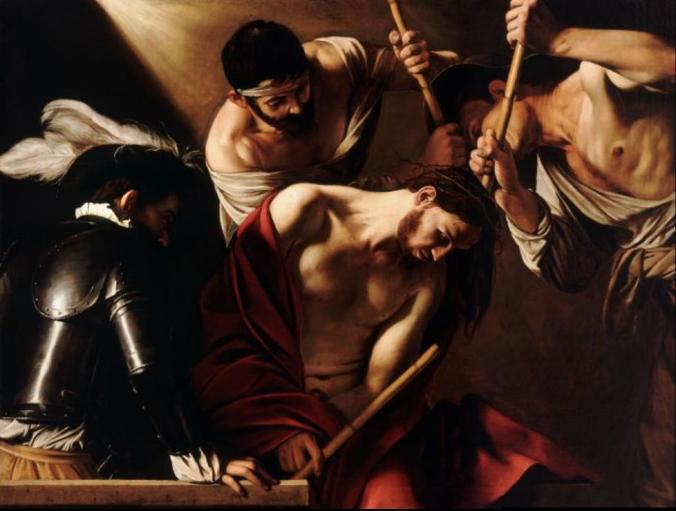 "Caravaggio's ""Crowning with Thorns"", 1607"