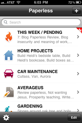 Paperless for iPhone App Review (1/2)