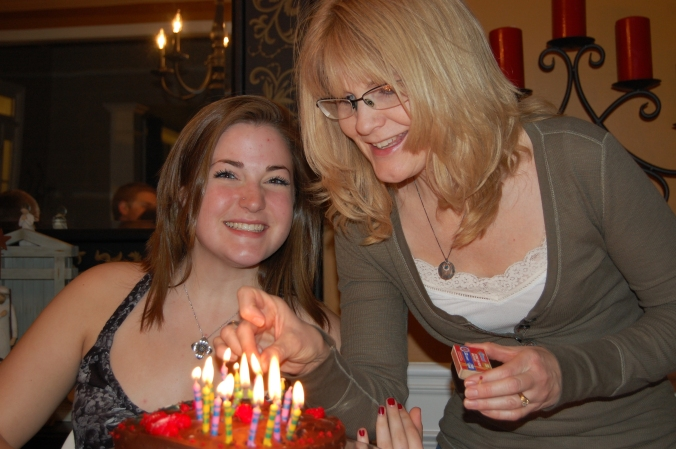 The author and her daughter on her 18th birthday