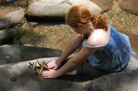 Heidi with Swallowtails Butterflies