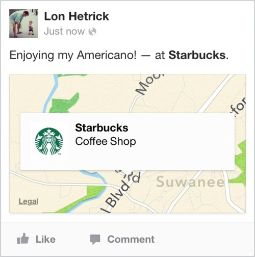 Starbucks Check-in