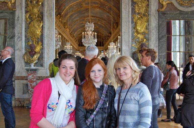 Hetrick girls in Versailles