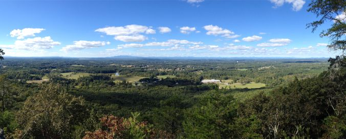 Panoramic photo of the view from Sawnee Mountain