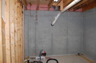 Empty basement space