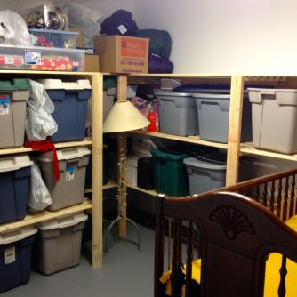 Storage room in use