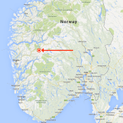 Map of Lunden, Norway