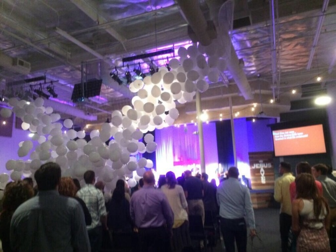 Balloon drop to celebrate the Resurrection at Mars Hill Church