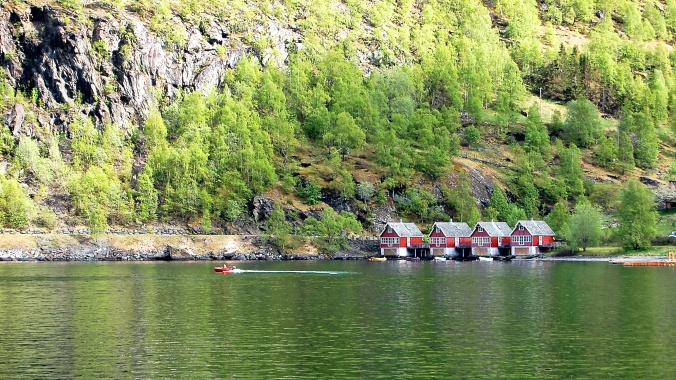 Cottages Along the Sognefjord