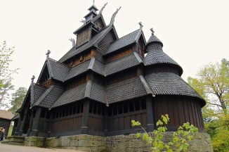 The back of the Stave Church