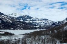 Mountain lake seen from the Flåmsbana train