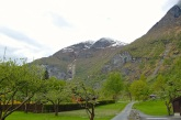 The view from the Flåm Hostel