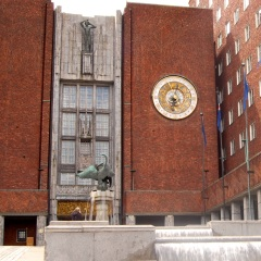 Oslo City Hall is a famous landmark in Norway
