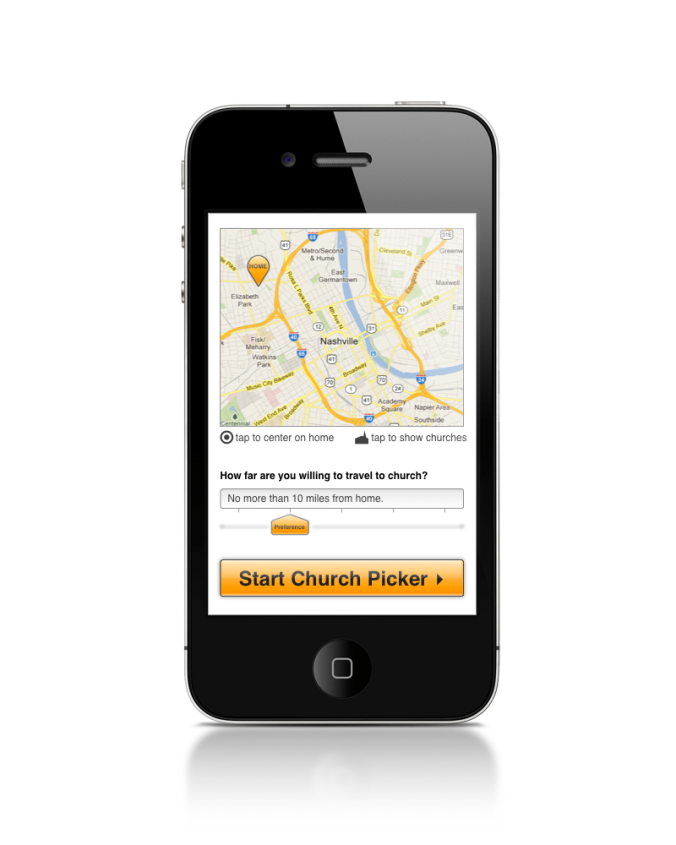 Find the right church with The Church Picker App