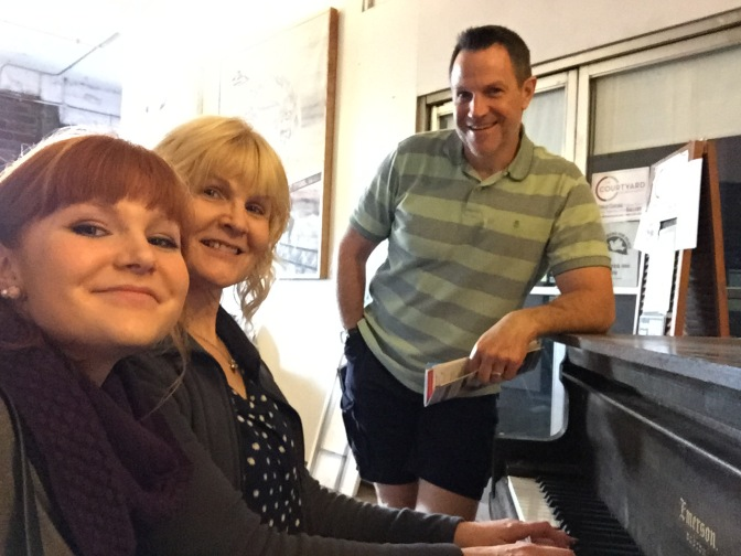 The three of us at the piano
