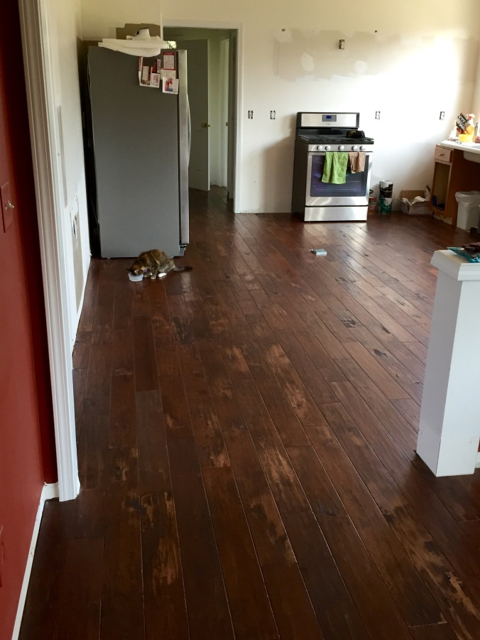 New solid hickory floor