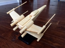 homemade Star Wars X-Wing Fighter for my grandon, Cole