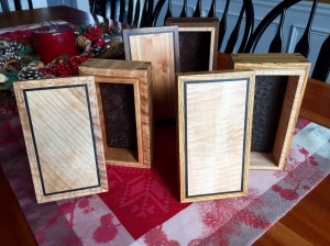 Hardwood boxes for nephews and a brother-in-law