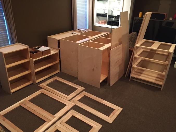 Cabinets in Progress