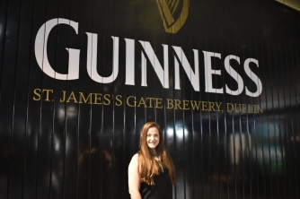 Haley at the Guinness Storehouse Museum