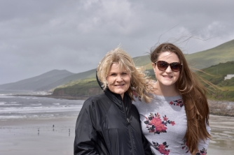 Dawn and Haley at the Inch Strand Beach, Dingle Peninsula