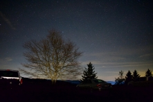 Photographing Stars at the Newfound Gap Parking